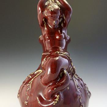Late 19th Century Sang de Boeuf Neoclassical Pompeian Askos Mystery - Art Nouveau