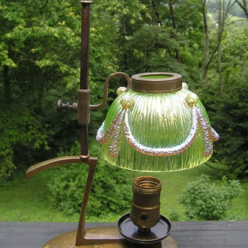 "Loetz ""Empire"" Texas decor Lamp - Art Glass"