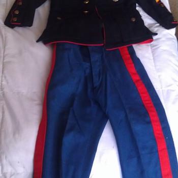 Vintage Child's USMC Dress Blues Uniform - Military and Wartime
