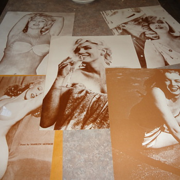 Marilyn Monroe lot of 5 vintage black and white posters