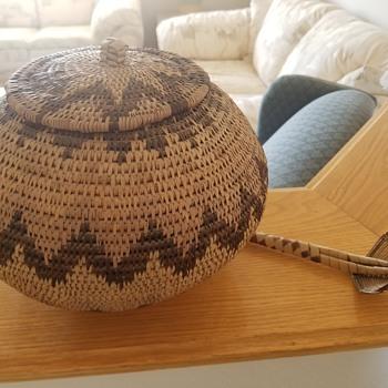 Old Woven Basket - Furniture