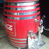 coca cola barrel