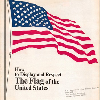 "1968 - U.S. Navy Pamphlet - ""Flag Display"" - Paper"