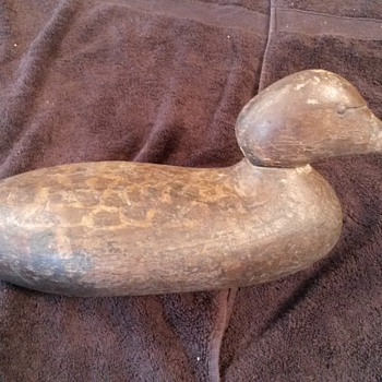 very old working decoy