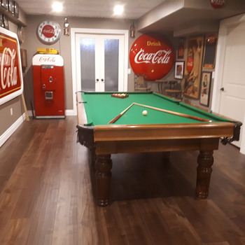The New Coca Cola  themed games room.  - Coca-Cola