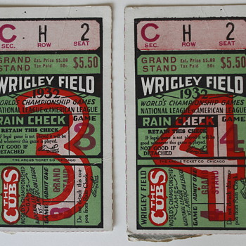 1932 world series ticket stubs - Baseball