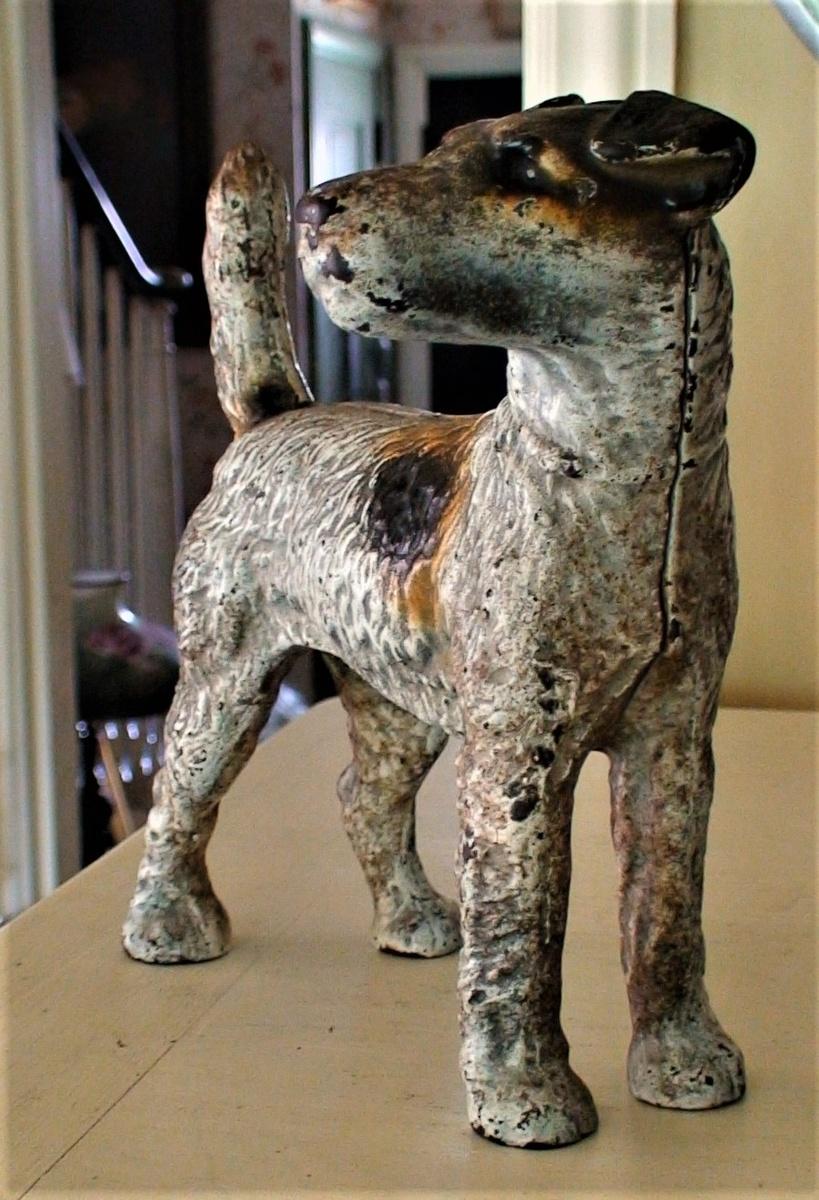 Fox Terrier Cast Iron Doorstop Hubley Collectors Weekly