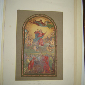 CromoLithograph Tapestry After Titian by Day and Son Very Old