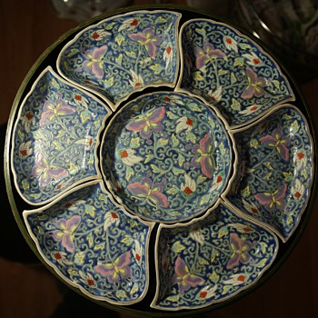 Chinese porcelain in a Japanese Laquer Box from Gumps? - Asian