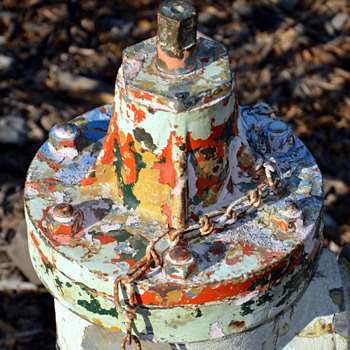 Old and very colorful shabby Fire Hydrant - Firefighting