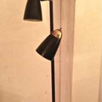 My mid-century atomic-shades pole floor lamp. What do you guys think... you don't have to love!! - Lamps