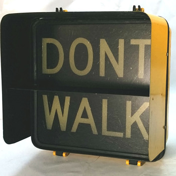 1980 Winko-Matic pedestrian signal from New York City - Signs