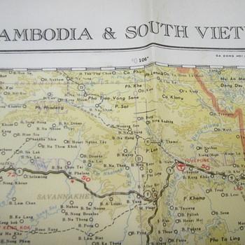 Vietnam War Era Military Map - Military and Wartime
