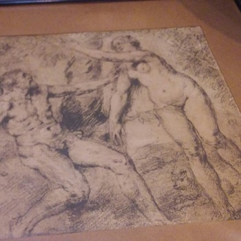 Antique Etching  - Fine Art
