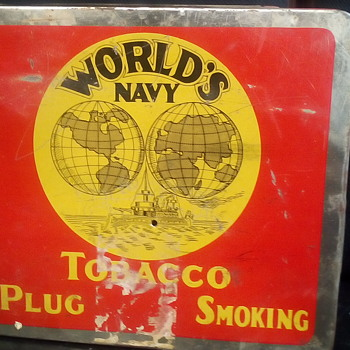 World's Navy Tobacco Box - Tobacciana