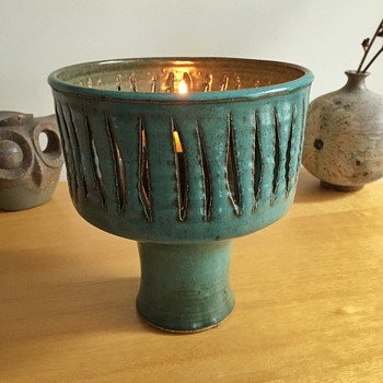 Mid century votive holder - Pottery