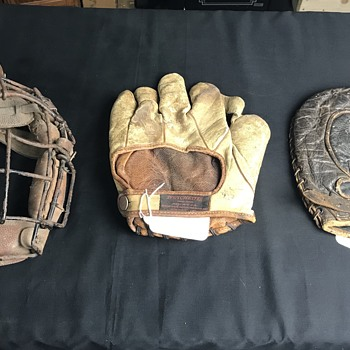 Winchester baseball mitts and  catchers mask  - Baseball