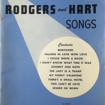 Rogers and Hart Song Book - Paper