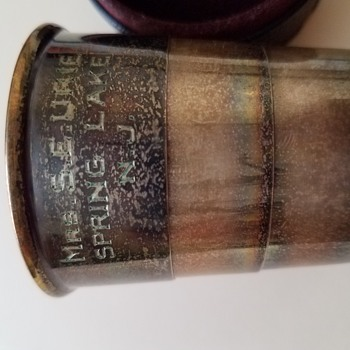Reed&Barton engraved collapsible cup - Silver