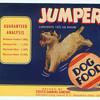 vintage unused dog food can labels
