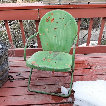 Vintage Clamshell Patio Chair Mid-Century Modern  - Furniture