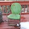 Vintage Clamshell Patio Chair Mid-Century Modern