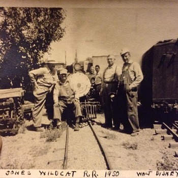 1950 Walt Disney at Jones' Wildcat Railroad in California. - Photographs