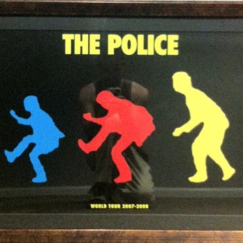 The Police Reunited World Tour 2007-2008 Poster