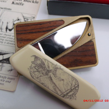My new Gerber Touche belt buckle knife  - Accessories