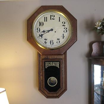 A. J. Heuring Regulator Clock - Clocks