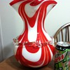 Red and white vase