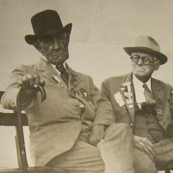 Two old Confederate Veterans photograph - Photographs