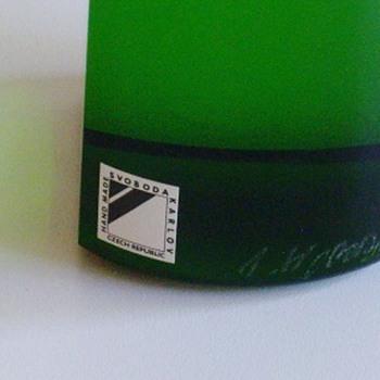 Confirmation on Svoboda vase please - Art Glass