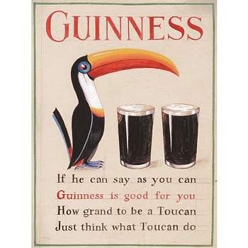 First Appearance of the Guinness Toucan Mascot: A 1935 Study by John Gilroy