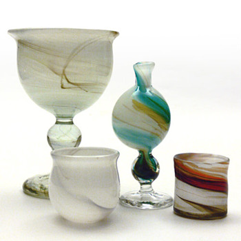 CASCADE set, Per Lütken (Holmegaard, 1970) - Art Glass
