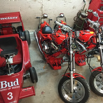 Budweiser motorcycle  - Breweriana