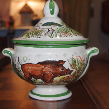 Faience? Old? New? Not sure, but I love this little piece I picked up at the Thrift Store! - Pottery