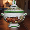 Faience? Old? New? Not sure, but I love this little piece I picked up at the Thrift Store!