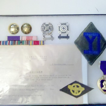 WWII 328th Infantry, 26th Division NAMED Purple Heart grouping!
