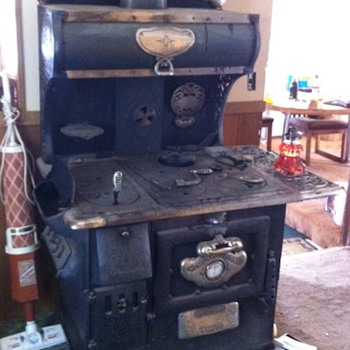 Hoosier Wood Burning Stove - Kitchen