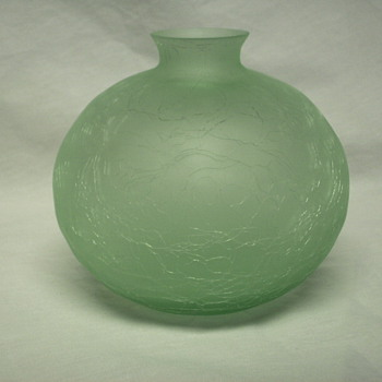 "Bohemian glass vase ""??"" XX century - Art Glass"