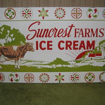 My Dairy Signs. Suncrest Farms - Bethlehem Pa. , Abbotts Dairy & Jane Logan - Philadelphia Pa.