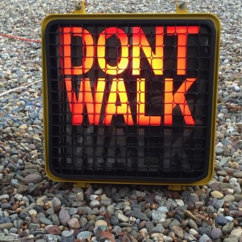 "1990 Peterco ""DONT WALK"" ""WALK"" unit from New York City - Signs"