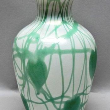 Imperial Leaf & Vine Vase c.1925 - Glassware