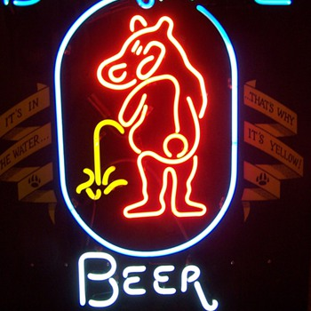 Bear Whiz Beer Neon Sign - Signs