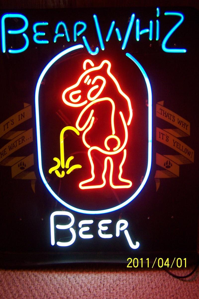 Bear Whiz Beer Neon Sign | Collectors Weekly