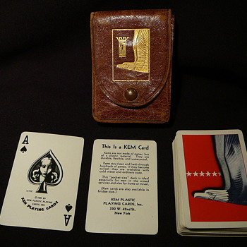 My husband's father's pocket sized playing cards from WWII - Cards