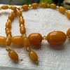 Butterscotch bakelite choker necklace