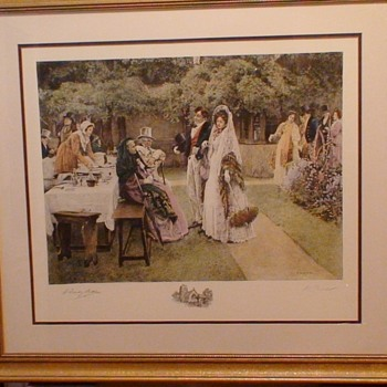 """""""The Wedding Breakfast"""" By Walter Dendy Sadler Signed in Pencil 27 x 30"""""""