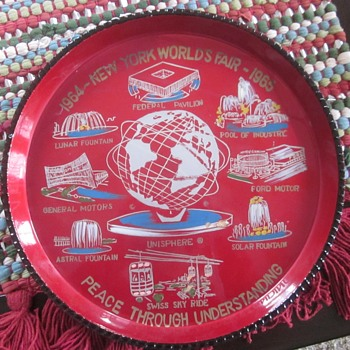 1964 New York World's Fair Memory Tray - Advertising